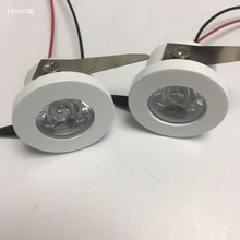 20pcs/lot diameter 30mm Led Cabinet 15degress  GREEN mini Spot light 1W Include Driver AC85-265V 30mm*30mm Mini downlight