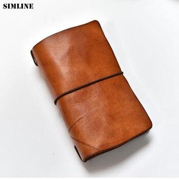 SIMLINE мужской кошелек сумочка-клатч из натуральной кожи Винтажный Длинный кошелек ручной работы Органайзер дорожные бумажники, подходят для...