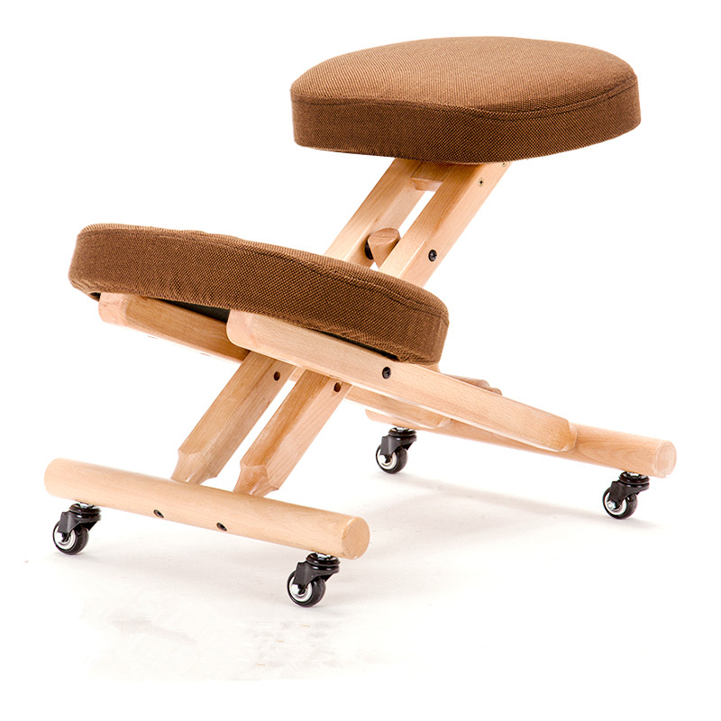 wood ergonomic kneeling chair with casters for kids height adjustable modern children furniture kneeling posture study chairin children chairs from