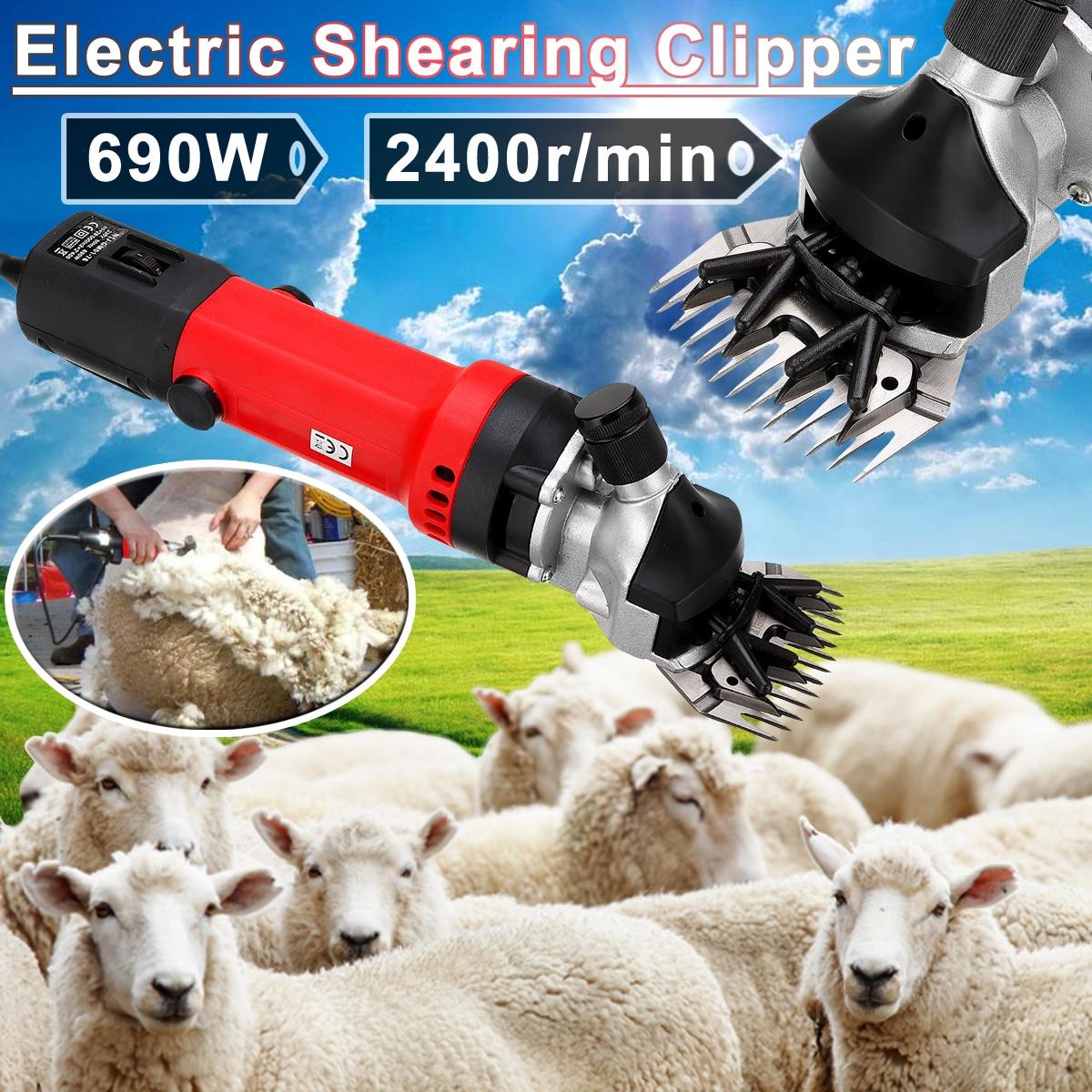US/EU Plug 690W Electric Shearing Clipper Pet Sheep Shear Alpaca Goat Farm Wool Cut Trimmer 220V For Electric Sheep Shearing 220v electric shearing machine sheep goat clipper 690w 2800r min y