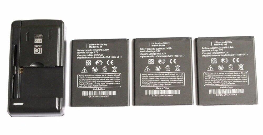 Новый 3&#215;2250 мАч/7.4wh bl-06 Замена литий-ионная Батарея + Универсальный USB стены Зарядное устройство для <font><b>THL</b></font> T6s T6 pro <font><b>T6C</b></font> + код отслеживания