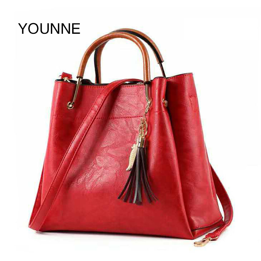 YOUNNE Fashion Women Bag Female Bags With Fur Ball Leather PU Bags Simple Girls Shoulder Messenger Female Handbags Brands Bags 100% genuine leather women shoulder bags simple fashion real skin cowhide simple messenger bags leisure female messenger bag