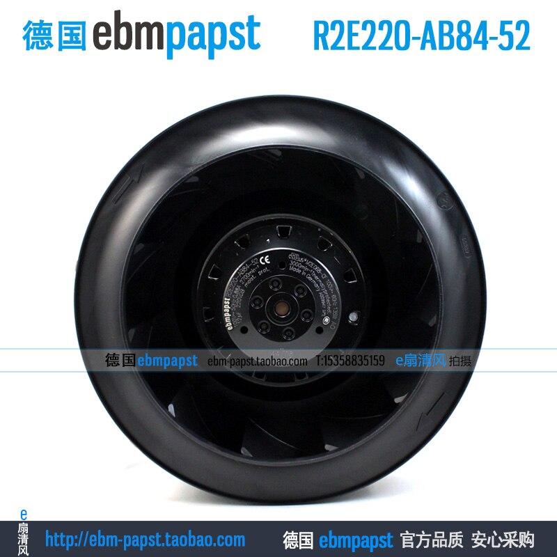 ebm papst R2E220-AB84-52 AC 100V 0.88A 135W 220x220mm Server Round fan original new ebm papst r2s175 ab56 56 ac 220v 0 33a 53w 175x175mm server round fan