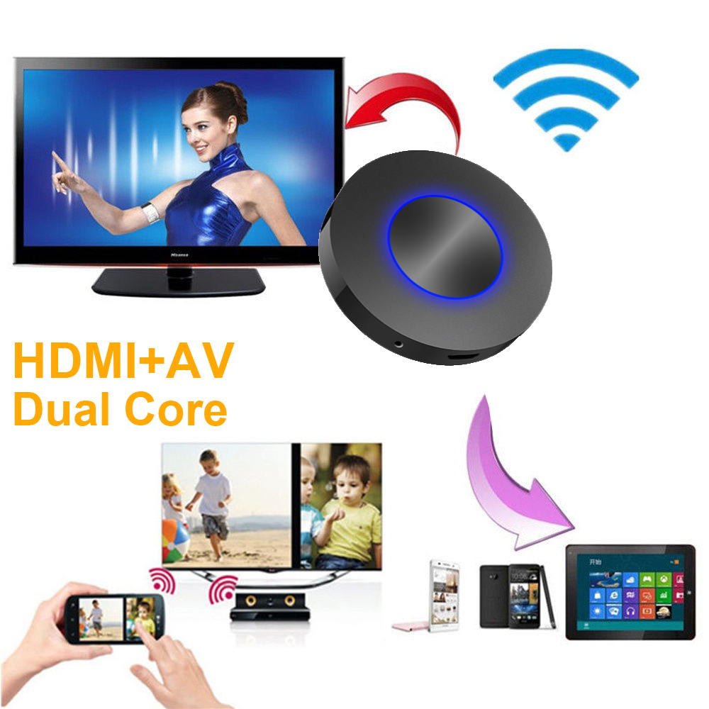 HD Digital AV Wireless Wifi Dongle HDMI Video To TV For IPhone X 5 6 7 8 Plus IPad Samsung S5 S6 Edge S7 S8 S9+ Android