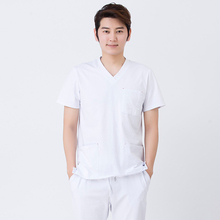summer stretch cotton men's surgical gown suit nursing uniform scrubs medical unisex operating room doctor nurse uniform