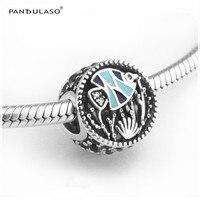 Pandulaso صالح أساور المحيط حياة الأسماك المينا الخرز ل صنع المجوهرات سحر الأزياء diy مجوهرات فضية 925 الأصلي