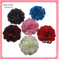 Wholesale - 23colors for your choose 3'' Satin mesh silk flowers without hair clip  FreeShipping