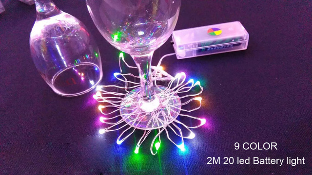mini led lights battery operated led string lights 9 colors 2m 20 led 2aa silver wire - Battery Operated Mini Christmas Lights