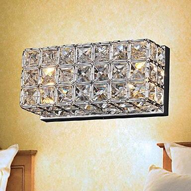 ФОТО Simple Modern LED Wall Light Lamp Crystal  In Electroplating Process Wall Sconce Arandela Wandlamp