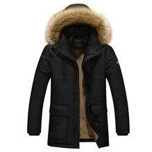 2017 Men's Outwear Parkas Winter Jacket Men Casual Cotton Thick Warm Jackets Plus size 4XL Windbreak Snow Military Jacket