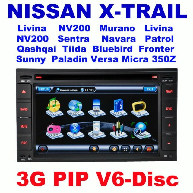 Car DVD for For Nissan QASHQAI X-TRAIL Tiida Bluebird Paladin Livina Sunny NV200 FRONTIER PATHFINDER350Z Murano with GPS 3G Host