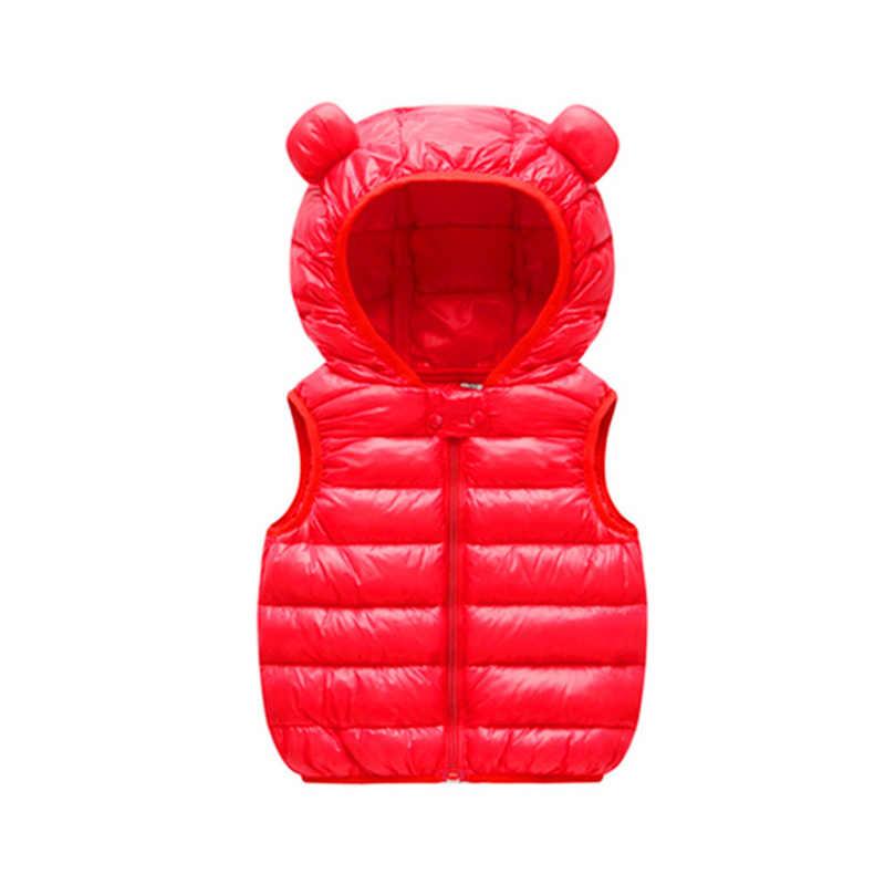 Chalecos cálidos de Otoño Invierno para niños 1-5 años chaleco lindo de algodón acolchado chaquetas para niños para las niñas