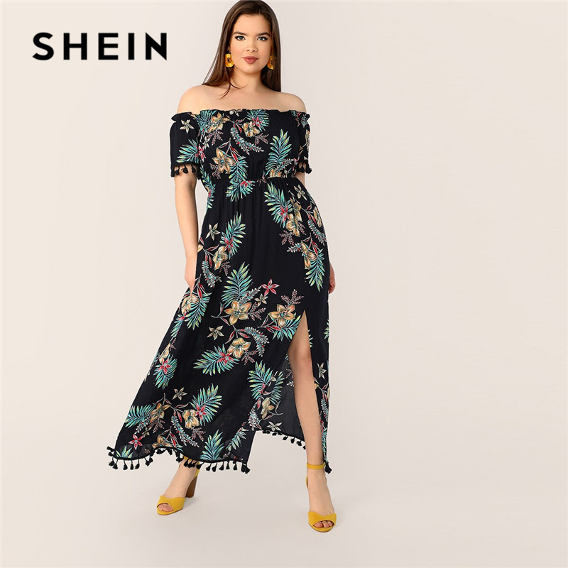 SHEIN Off Shoulder Maxi Dress