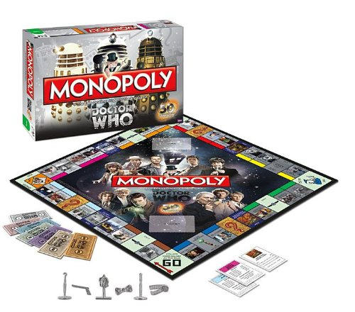 Doctor who 50th anniversary monopoly ~ genuine bbc hasbro dr who.