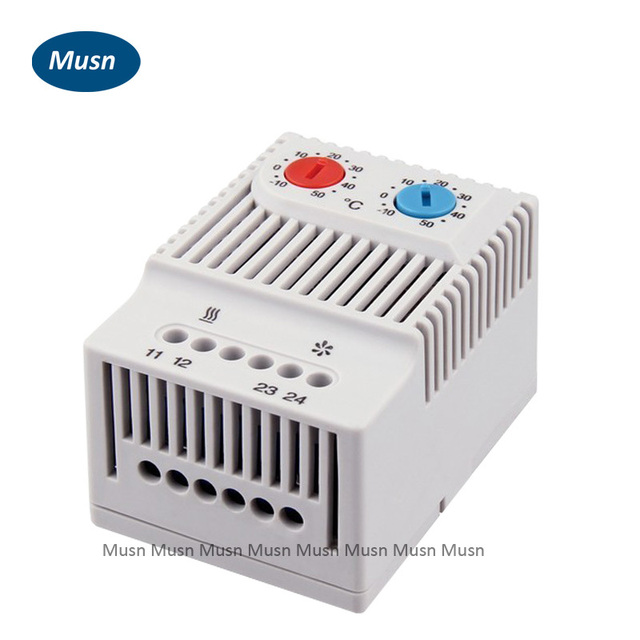 Compact Adjustable Temperature Switch Controller , Dual Thermostat  Connecting Heater ,fan For Cabinet ZR 011