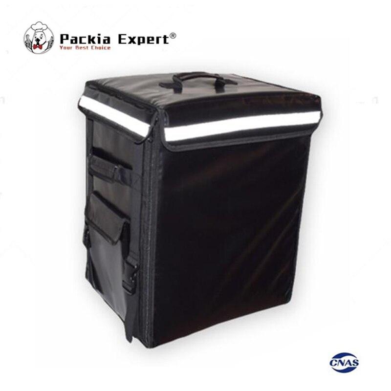 Sac d'isolation de sac à dos de transporteur de nourriture de 58L 43*35*53 cm, sac de pizza de livraison de paquet de nourriture PEHS433553 couleur noire