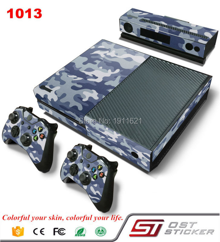 Protective decal for skin xbox one s console & Kinect & 2pcs controllers skins