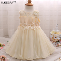 Baby 1 Year Birthday Party Wedding Tutu Dress With Pearl Toddler Girl Princess Dresses Baby Christening