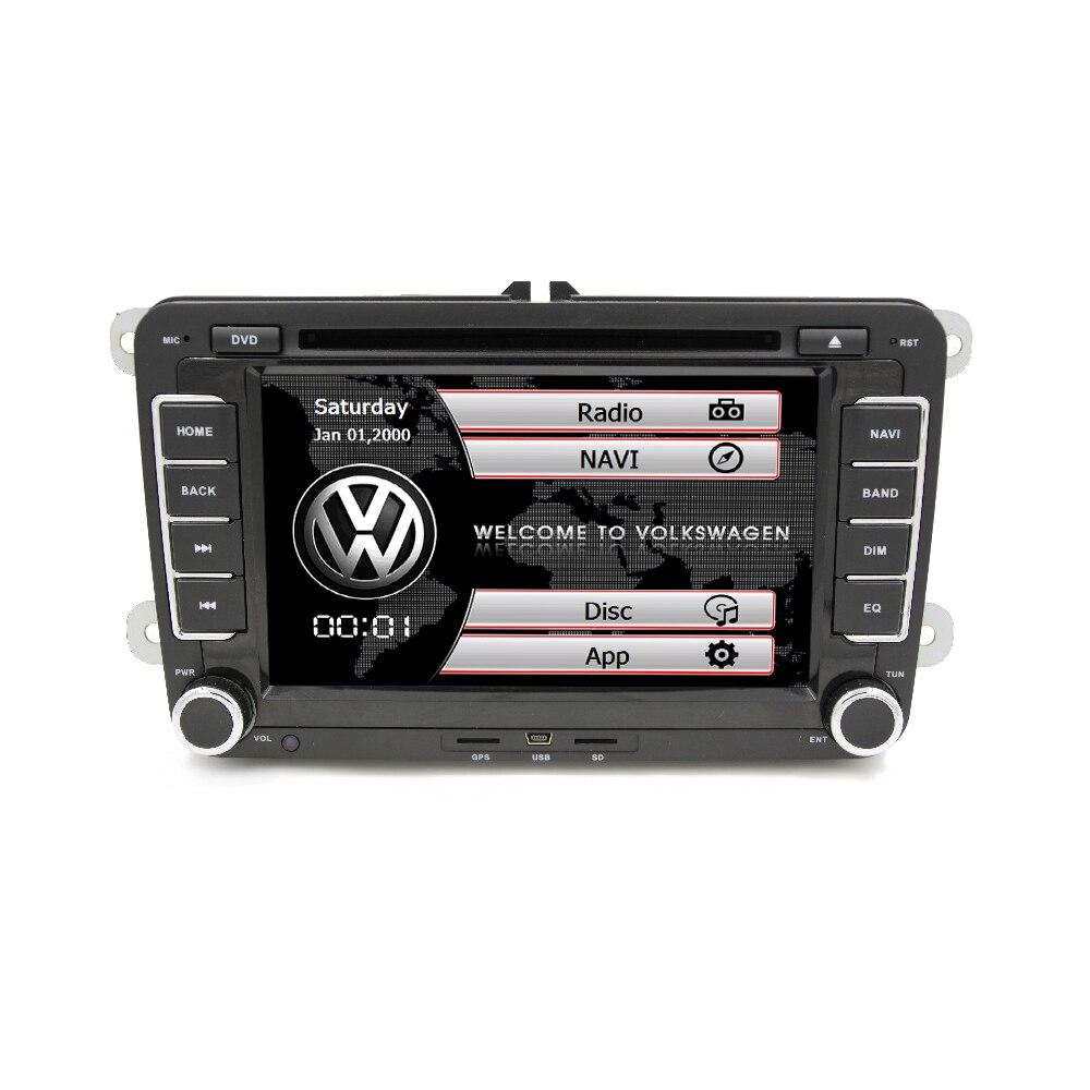 7 2 din car gps radio dvd player for volkswagen vw golf 5. Black Bedroom Furniture Sets. Home Design Ideas