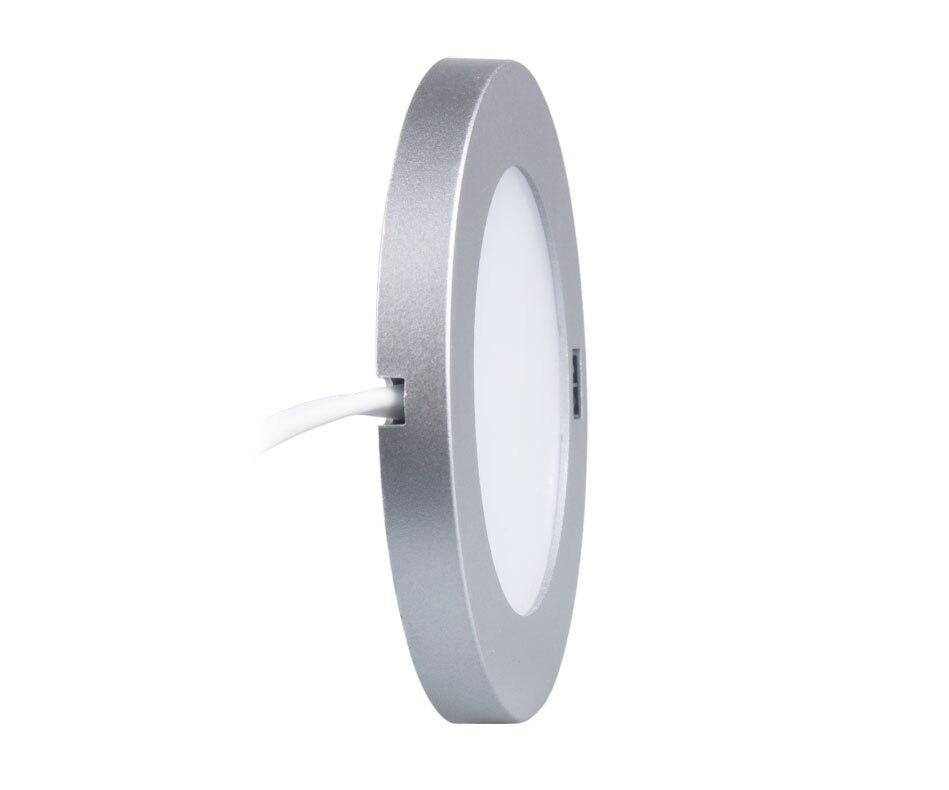 21PCS Under Cabinet Lamps 3W Motion Sensor IR Silver Round LED Puck Counter Led Lights Closet Cupboard Wardrobe Locker Lighting (7)
