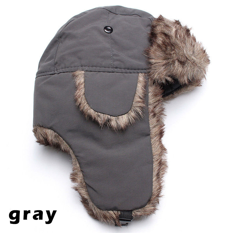 Winter Trapper Thick Trooper Earflap Warm Russian Ski Hat Fur Ushanka Snow Windproof Men Woman Hats FS99