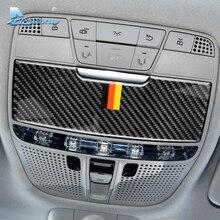 Скорость полета для Mercedes Benz C Class W205 C180 C200 C300 GLC аксессуары углеродного волокна салона световая панель для чтения крышка отделка