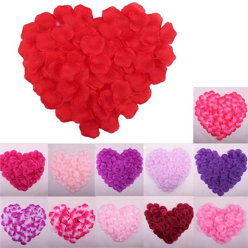 Искусственные лепестки цветов розы 1000 шт./лот лепестки роз для свадебного декора поставки 6Z