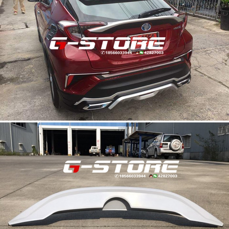ABS PAINT CAR REAR WING TRUNK LIP SPOILER FIT FOR TOYOTA C HR CHR 2017 2018