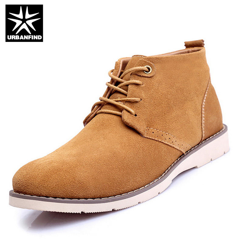 URBANFIND Men Winter Rubber Boots With Plush Lining EU Size 38-44 Suede Leather Uppder Man Warm Ankle Shoes ноутбук asus k751sj 90nb07s1 m00320 intel pentium n3700 1 6 ghz 4096mb 1000gb dvd rw nvidia geforce 920m 1024mb wi fi bluetooth cam 17 3 1600x900 dos