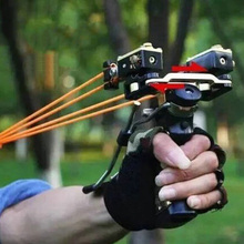 Professional Red Laser Slingshot Powerful Fishing Catapult Bow Stainless Steel  Slingshot Outdoor Hunting Tool Accessories