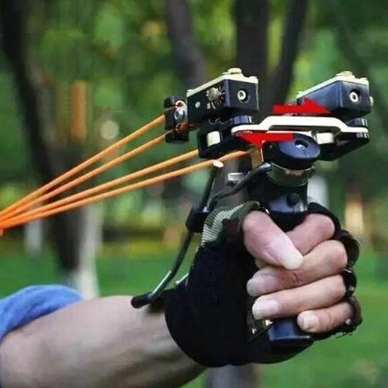 Professionale Laser Rosso Slingshot Potente Pesca Catapulta Arco In Acciaio Inox Slingshot di Caccia Esterna Strumento di Accessori