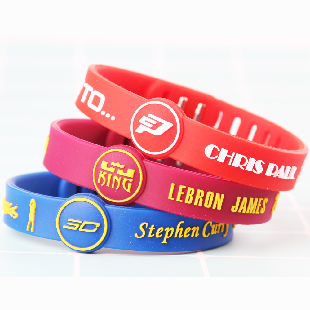 Top Quality Silicone Basketball Bracelets Sport Energy Size Can Adjust Bracelet Metal Buckle Balance Wristband Power Bangle Men