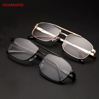 WEARKAPER Роскошные винтажные очки для чтения из нержавеющей стали для женщин и мужчин, дальнозоркость, пресбиопические круглые очки диоптрий 1,...