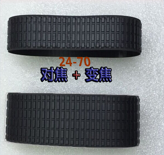 2 Pieces a set Lens Zoom + Focus Grip Rubber Ring For Nikon FOR NIKKOR 24-70MM 24-70 1:2.8 G f/2.8G ED