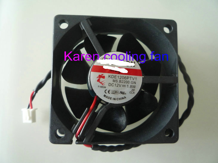 Купить с кэшбэком New Original HZDO 6CM 6025 12V 1.8W KDE1206PTV1 MS.B2200.GN 2Wire Cooling Fan