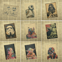 Star wars movie vintage poster retro poster kraft paper wall sticker Bar Cafe living room
