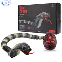 LONSUN Tricky Toys Novelty Surprise Practical Jokes RC Machine Remote Control Cobra And Interesting Egg