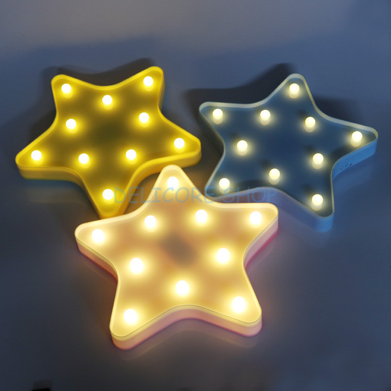 Novelty 3D Star Night Lamp Baby Kids Girl Sleeping Light Cute Children's Day Christmas Gifts Cloud Bedroom Table Lamps 4 Colors itimo led night light baby sleeping kids bedside light bedroom decoration cartoon star night lamps novelty nightlight