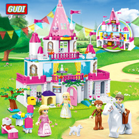 616pcs GUDI girls Friends Building Blocks Series Toys gifts Alice Princess Sweet Castle Compatible With Legoings girls toys gift