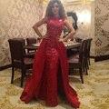 2017 Fares Árabe myriam Celebrity Dresses La Vaina Cuello Alto de Encaje Sin Mangas Largas Vestidos de la Alfombra Roja
