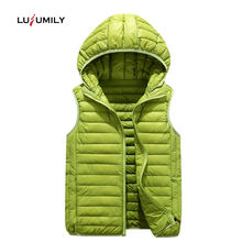 Lusumily Winter Women Vest 2019 Fashion Plus Size Outerwear Removable Hooded Waistcoat Casual Warm Jacket Motorcycle Vest(China)
