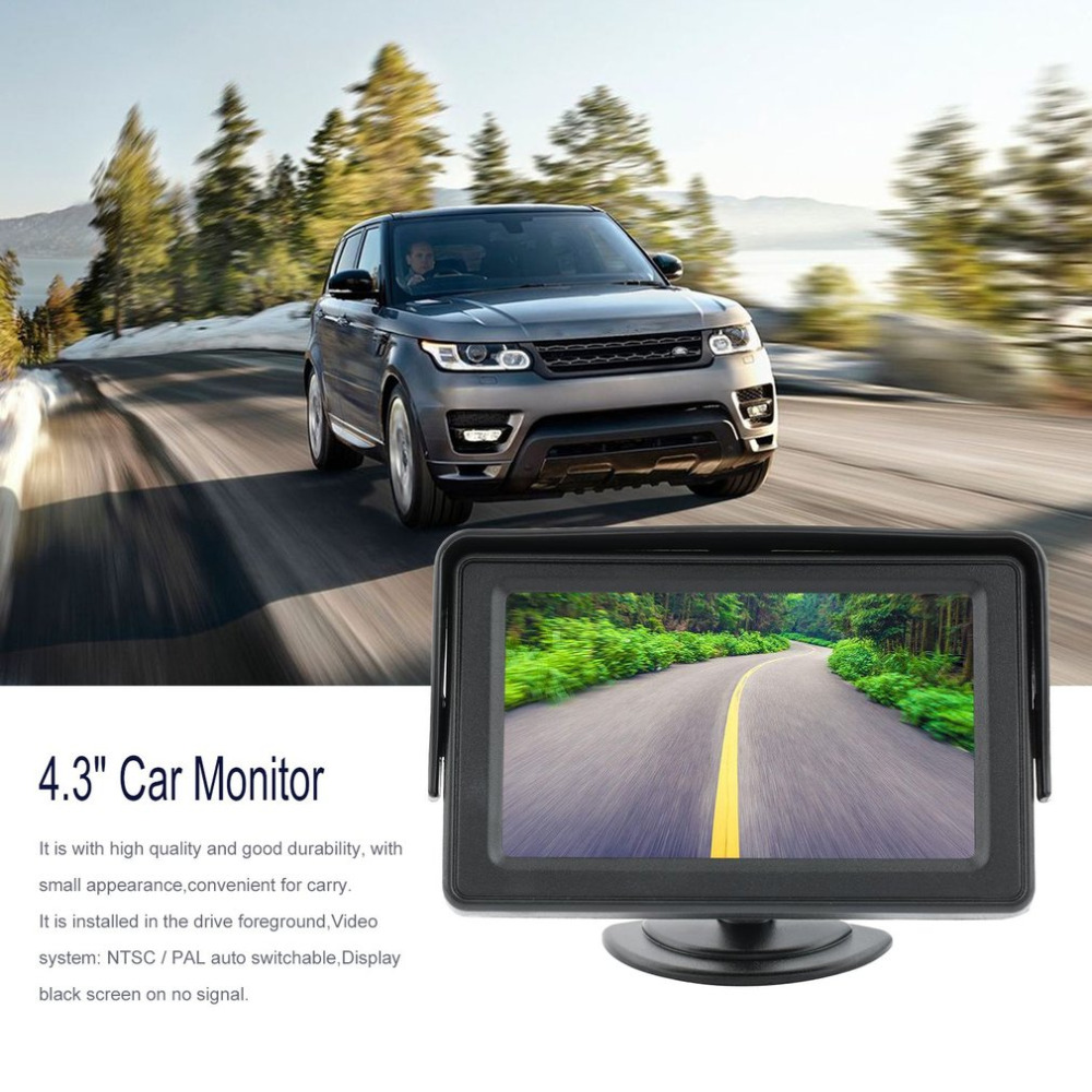 "4.3"" Stand TFT LCD Color Automobiles Security Monitor AV Input Vehicle Security Car Rear-view Parking Backup System top sale(China)"