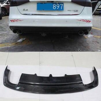 A4 B9 S-LINE sợi carbon Sau ốp lưng môi Máy Khuếch Tán Tinh Dầu cho Xe Audi A4 B9 SLINE Tiêu Chuẩn xe cơ thể bộ 13- 16