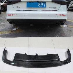 A4 B9 S LINE z włókna węglowego dyfuzor tylnego zderzaka dla Audi A4 B9 SLINE standardowy zestaw do nadwozia samochodu w wieku 13 16|Zestawy karoserii|   -