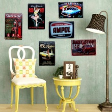 Retro Tin Signs Wall Picture for Garage Home Cafe  Art Decor Cuadros sticker 30X20CM A-9004