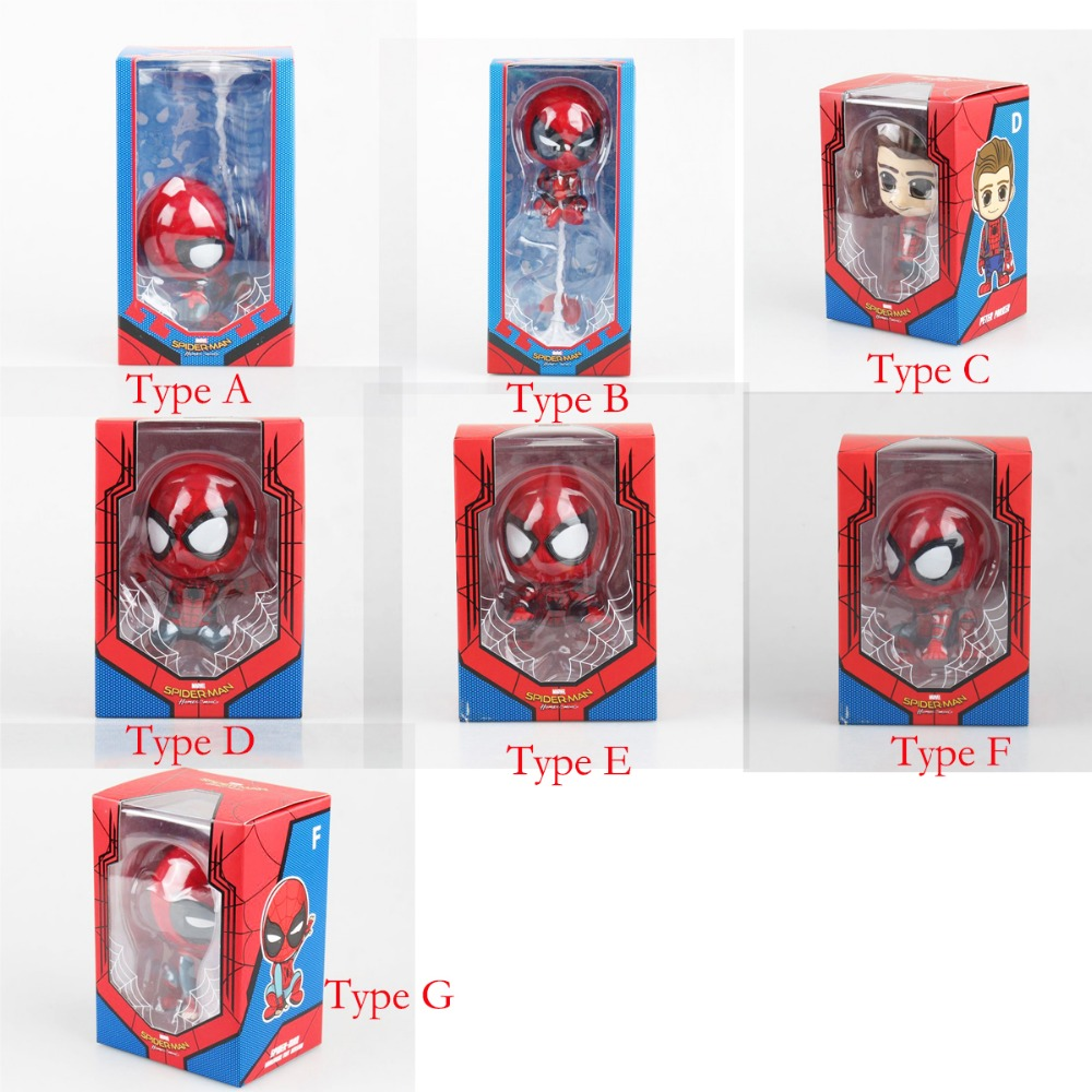 Anime Cute Spider-Man Homemade Suit Ver 3.5 Bobble-Head Figure Cosbaby In Box Free Shipping
