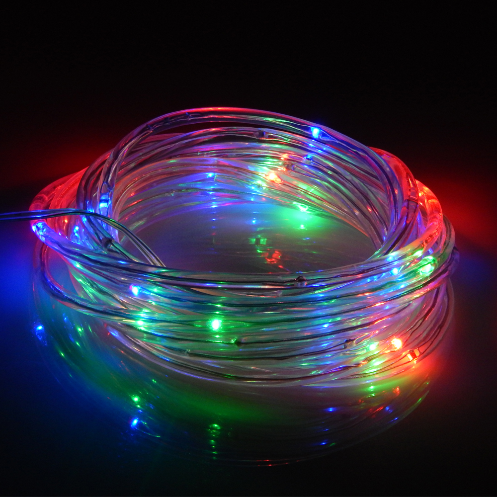 5m 50 leds battery operated led rope tube string lights indoor
