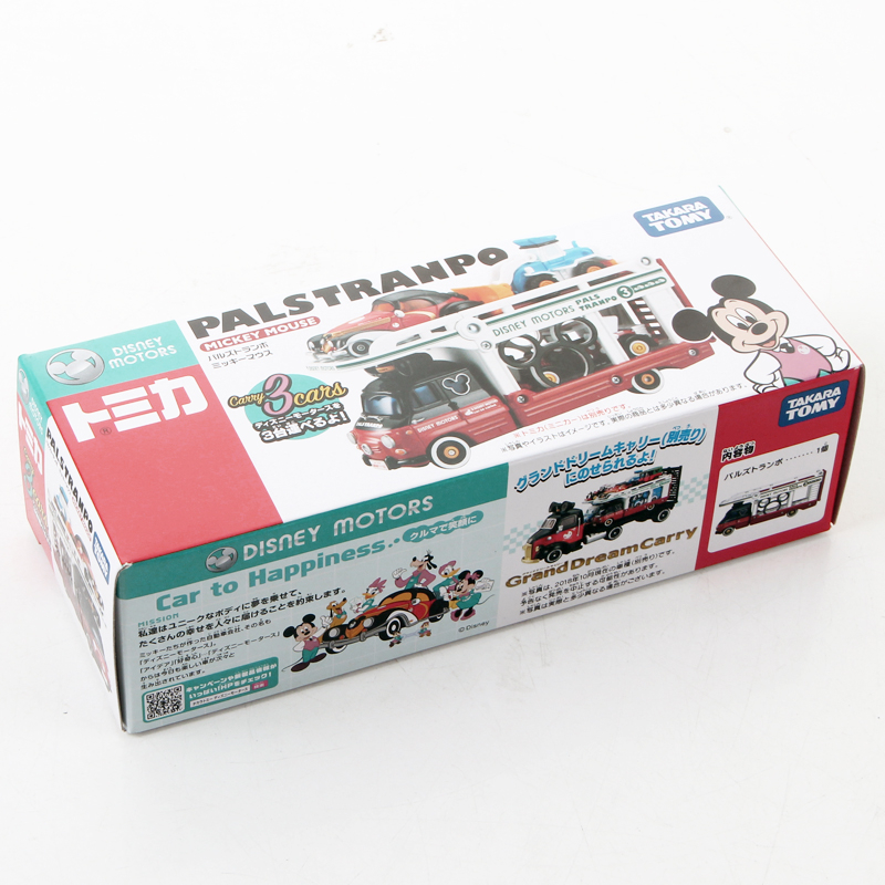 Tomica Disney Motors Mickey Mouse PALS TRANPO Transporter Truck Metal Diecast Model Vehicle Toy Car New 116530
