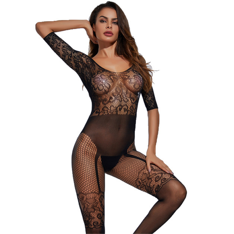 Sexy Mesh Fishnet Lingerie Baby Doll Erotic Transparent Underwear <font><b>Women</b></font> Teddy <font><b>Lenceria</b></font> <font><b>Sexi</b></font> <font><b>Para</b></font> <font><b>Mujer</b></font> Female Porn Sex Costumes image
