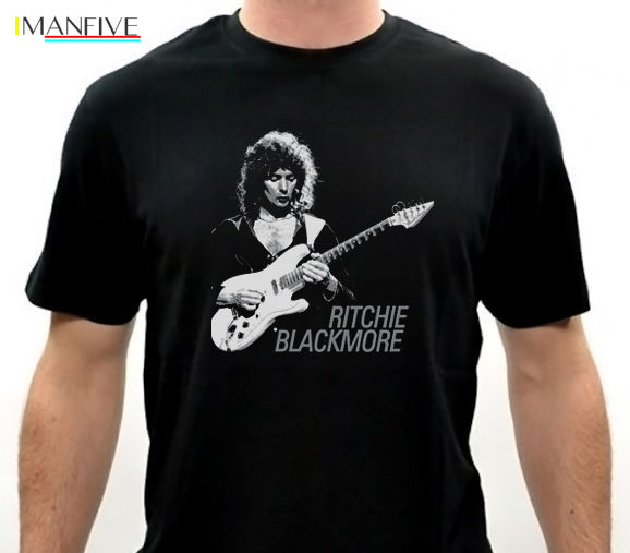 Ritchie Blackmore Men 39 s Black T Shirt Size S M L XL 2XL 3XL Print O Neck Casual Cotton Short tshirt men in T Shirts from Men 39 s Clothing